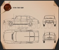 Tatra T603 1968 Blueprint