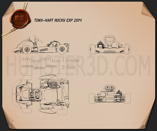 Tony Kart Rocky EXP 2014 Blueprint