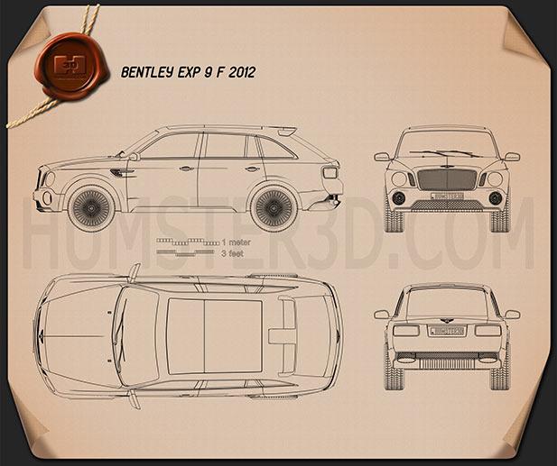 Bentley EXP 9 F 2012 Blueprint