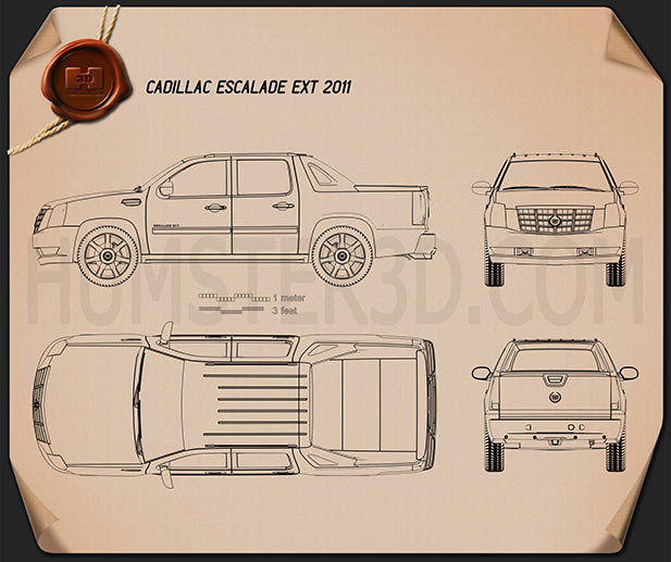 Cadillac Escalade EXT 2011 Blueprint