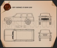 Jeep Cherokee XJ 4-door 2001 Blueprint
