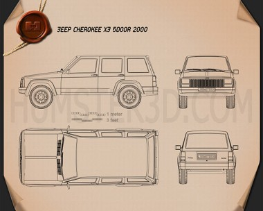 Jeep Cherokee XJ 4-door 2001 Blueprint