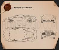Lamborghini Aventador 2012 Blueprint