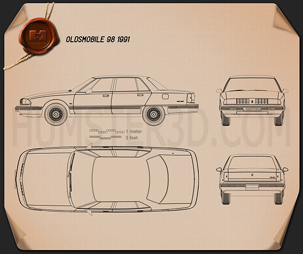 Oldsmobile 98 1991 Blueprint