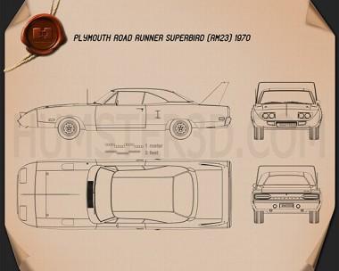 Plymouth Road Runner Superbird 1970 Blueprint