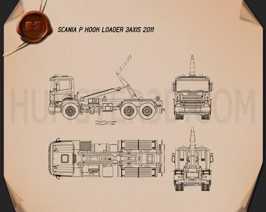 Scania P Hook Loader 2011 Blueprint