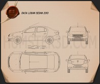 Dacia Logan sedan 2013 Blueprint
