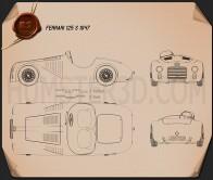Ferrari 125 S 1947 Blueprint