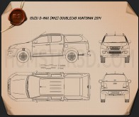 Isuzu D-Max Double Cab Huntsman 2014 Blueprint