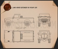 Land Rover Defender 110 pickup 2011 Blueprint