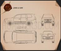 Lexus LX 2013 Blueprint