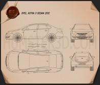 Opel Astra J sedan 2012 Blueprint