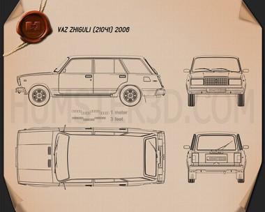 VAZ Lada 21041 2006 Blueprint