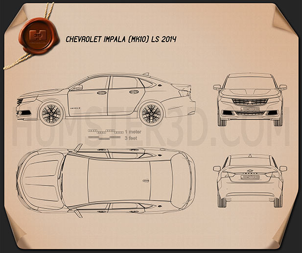 Chevrolet Impala LS 2014 Blueprint