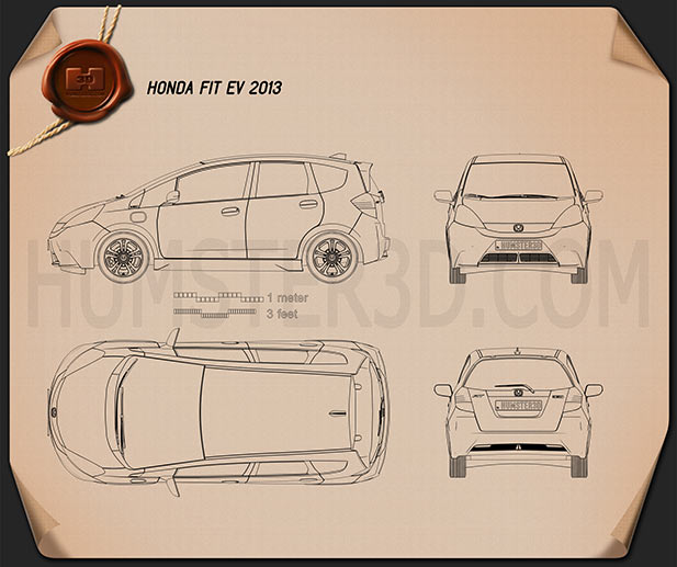 Honda Fit EV 2013 Blueprint