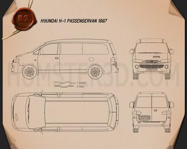 Hyundai H-1 Passenger Van 1997 Blueprint
