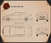Kia Cerato Coupe 2012 Blueprint