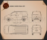 Nissan e-NV200 Evalia 2014 Blueprint