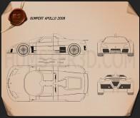 Gumpert Apollo 2008 Blueprint