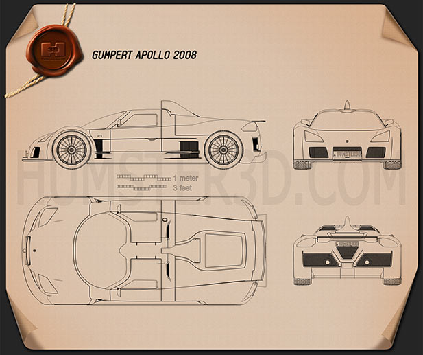 Gumpert Apollo 2008 Blueprint