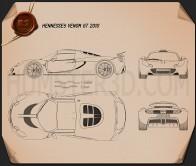 Hennessey Venom GT 2012 Blueprint