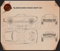 Italdesign Giugiaro Parcour 2013 Blueprint
