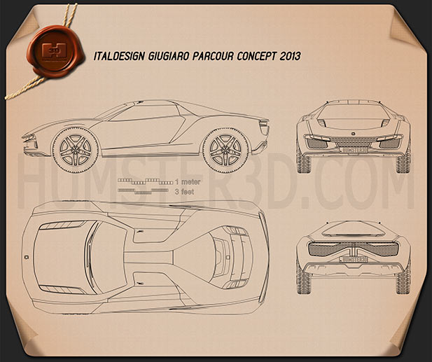 Italdesign Giugiaro Parcour 2013 Blueprint
