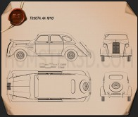 Toyota AA 1940 Blueprint