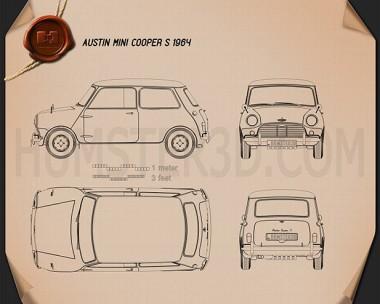 Austin Mini Cooper S 1964 Blueprint