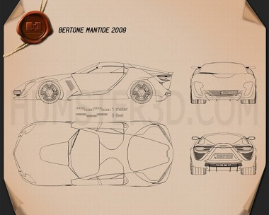 Bertone Mantide 2009 Blueprint