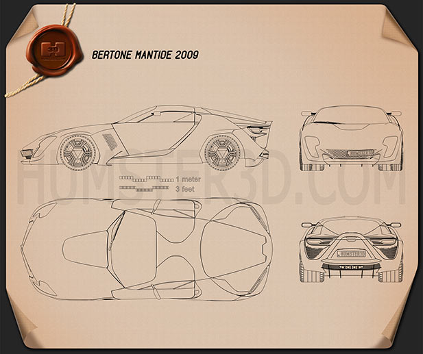 Bertone Mantide 2009 Blueprint