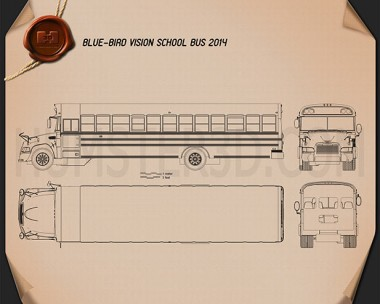 Blue Bird Vision School Bus 2014 Blueprint