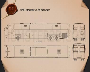 Comil Campione 3.65 Bus 2012 Blueprint