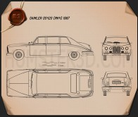 Daimler DS420 1987 Blueprint