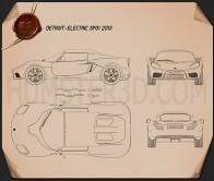 Detroit Electric SP01 2013 Blueprint