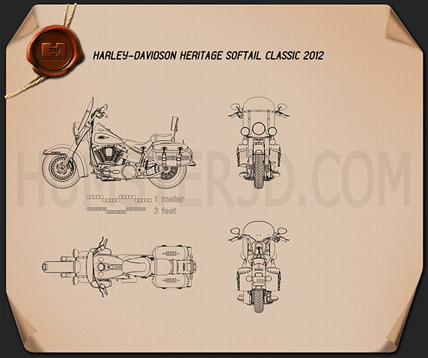 Harley-Davidson Heritage Softail Classic 2012 Blueprint