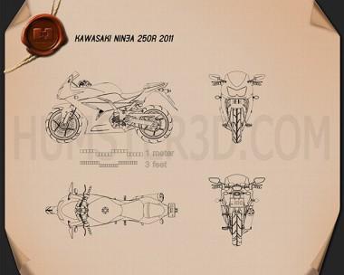 Kawasaki Ninja 250R Blueprint