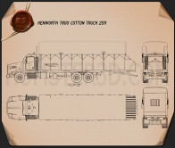 Kenworth T800 Cotton Truck 2011 Blueprint