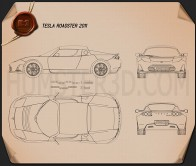 Tesla Roadster 2011 Blueprint