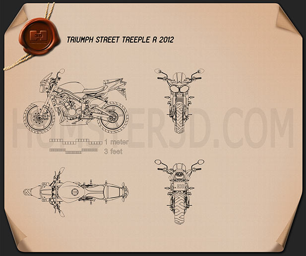 Triumph Street Treeple R 2012 Blueprint