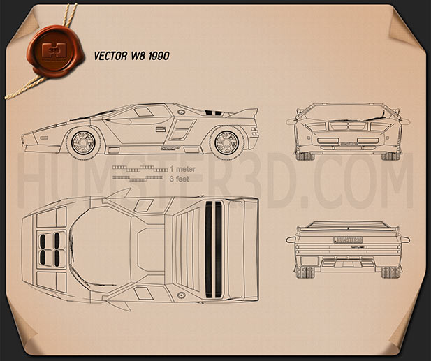 Vector W8 1990 Blueprint