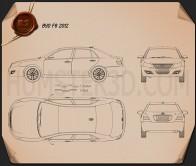 BYD F6 2012 Blueprint