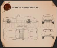 Delahaye 235 Chapron Cabriolet 1951 Blueprint