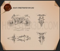 Ducati Streetfighter 848 2012 Blueprint