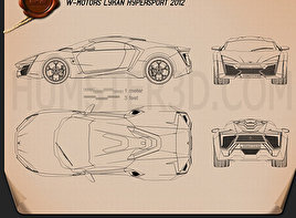 W Motors Lykan HyperSport 2012 Blueprint