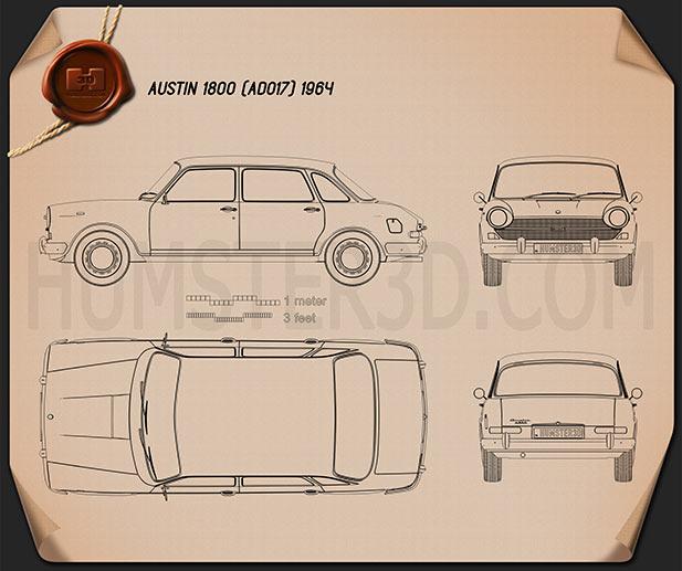 Austin 1800 1964 Blueprint