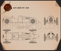 Auto Union Typ C 1936 Blueprint