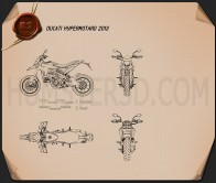 Ducati Hypermotard 2013 Blueprint