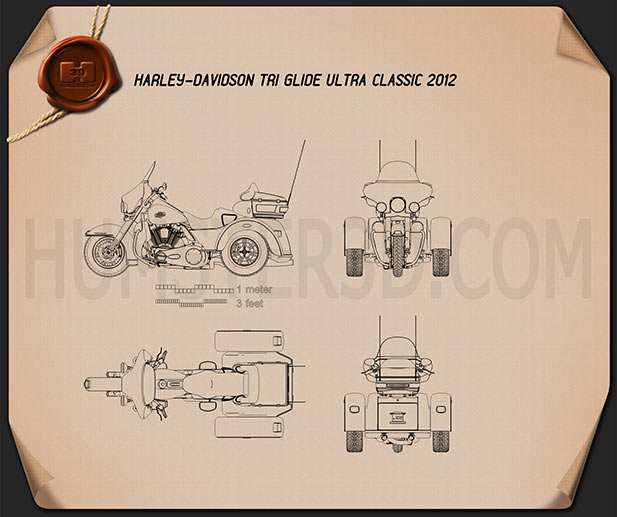 Harley-Davidson Tri Glide Ultra Classic 2012 Blueprint