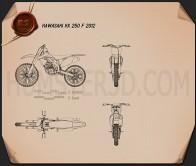Kawasaki KX250F 2012 Blueprint